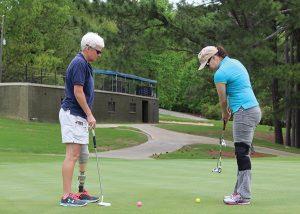 Injured Veterans Playing Golf
