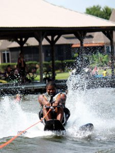 Veteran water skiing