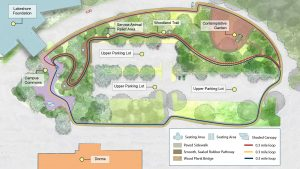Aerial Map of Lakeshore outdoor spaces