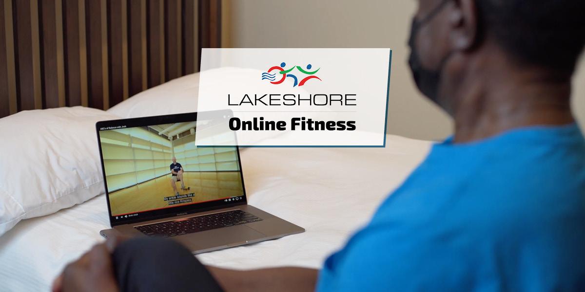 Man exercises in front of computer screen in bedroom